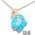 Blue Turquoise Rose crystal wrap Necklace..